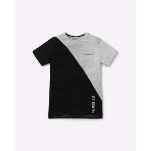 YB DNMX Slim Fit Panelled T-shirt with Patch Pocket