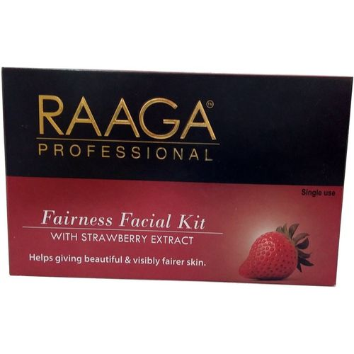 Raaga Professional Fairness Facial Kit-With strawberry Extract 45 g(Set of 7)