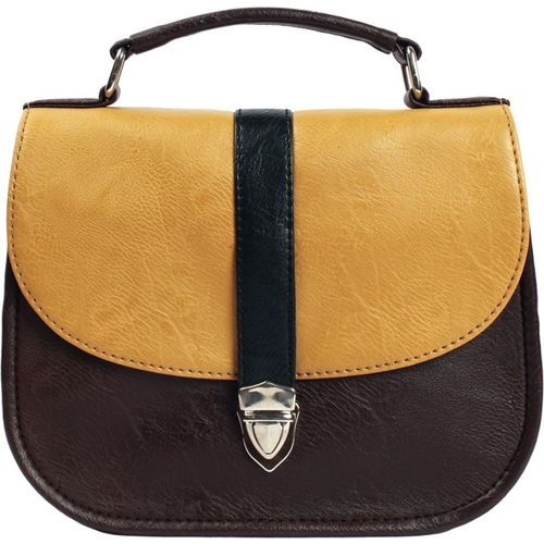 Bagsy Malone Women Evening/Party Brown PU Sling Bag