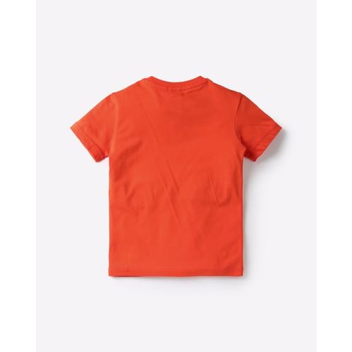 UNITED COLORS OF BENETTON Typographic Print Crew-Neck T-shirt
