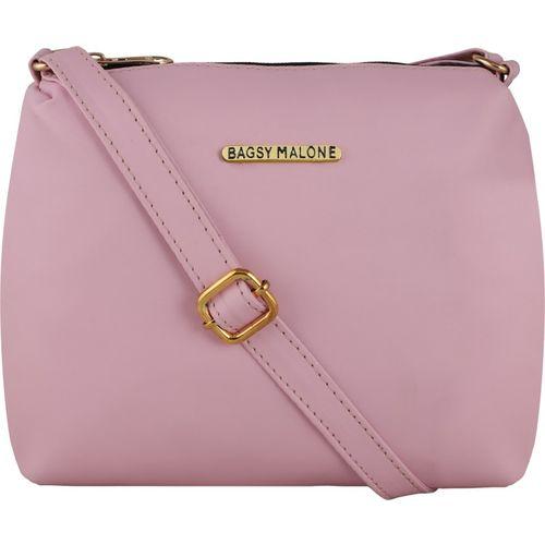 Bagsy Malone Women Casual Pink PU Sling Bag