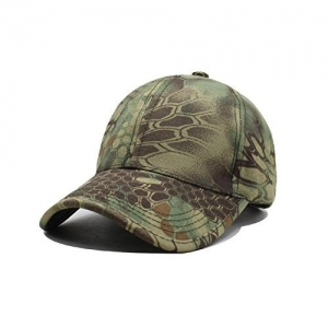 Gizmoway Noga Python Camouflage Cap Simplicity Outdoor Sun Hat Army Hat Woodland Camo Outdoor Tactical Cap for Fishing Hiking Hunting
