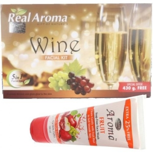 BIGSALE786 Real Aroma Wine Facial Kit 5 in 1 Free Asta Berry Wine Face Wash 740 g(Set of 5)