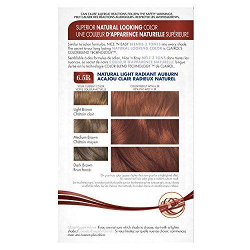 Clairol Nice 'N Easy Hair Color 112 B Natural Radiant Auburn 1 Kit