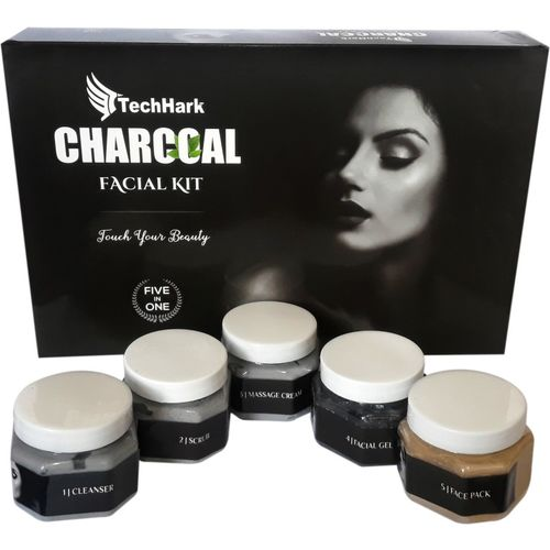 Techhark Herbals Black Charcoal Blackhead Removal & Purifying Facial Kit 500 g 500 g