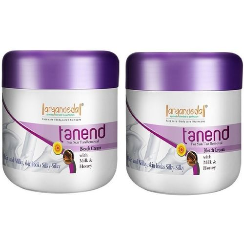 Aryanveda Herbals Tanend Bleach Cream For Tan Removal; All Skin Type - 80gm 40 g(Set of 2)