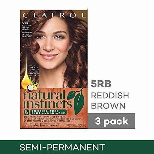 5RB/16RG Reddish Brown Sedona Sunset, 3 Kits: Clairol Natural Instincts Hair Color, Shade 5rb/16rg Sedona Sunset Reddish Brown, 3 Count