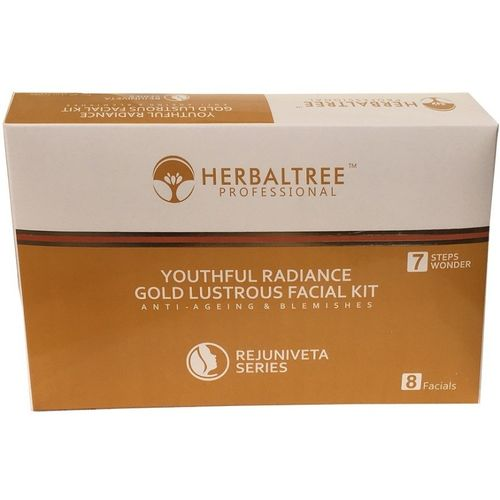 herbaltree HT YOUTHFUL RADIANCE GOLD LUSTROUS PROFESSIONAL FACIAL KIT 380 g(Set of 7)