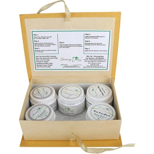 Glowing Buzz Herbal Anti Tan Facial Kit 220 g(Set of 6)
