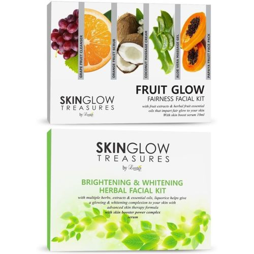 Luster Fruit Glow Fairness + Brightening & Whitening Herbal Facial Kit 620 ml