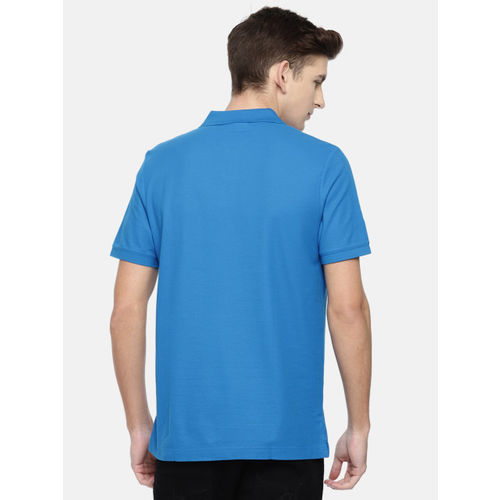 Calvin Klein Jeans Men Blue Solid Polo Collar T-shirt
