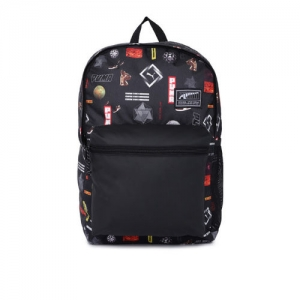 Puma Unisex Black Graphic Print Academy Backpack