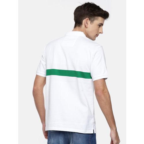 Calvin Klein Jeans Men White Solid Polo T-shirt