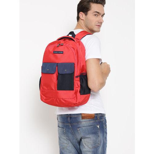 Tommy Hilfiger Unisex Red Laptop Backpack