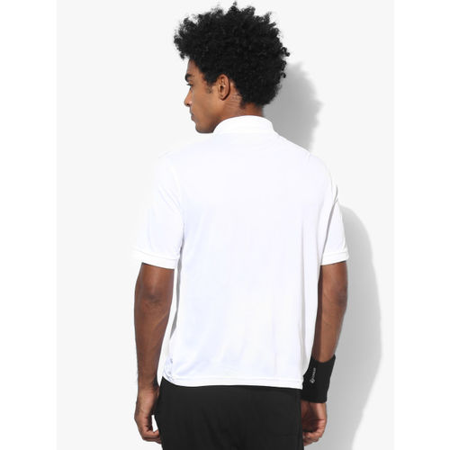 Alcis Men White Printed Polo Collar T-shirt