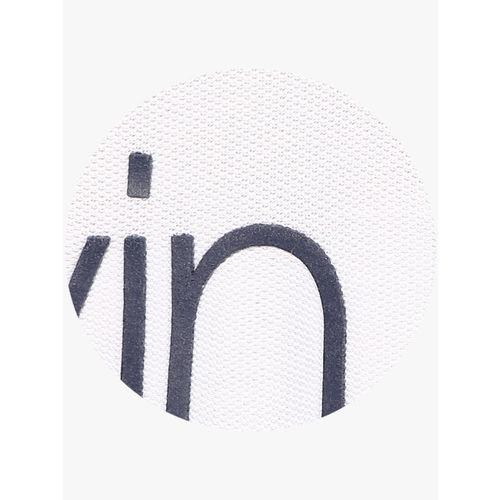 Calvin Klein White Printed Slim Fit Polo T-Shirt
