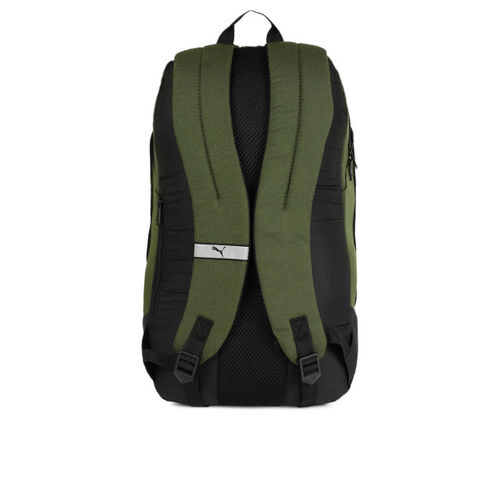 Puma Unisex Olive Green & Black Deck Laptop Backpack