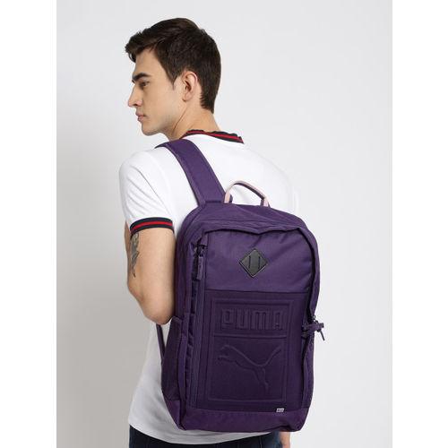 Puma Unisex Purple Solid Backpack