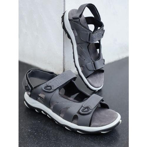 Buy Roadster Men Grey Sports Sandals