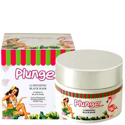 O3+ Plunge Natural Luminizing Black Mask with Charcoal and Chamomile Flower Extracts - 100% Natural and Organic Base with No Parabens and Minerals - Instant