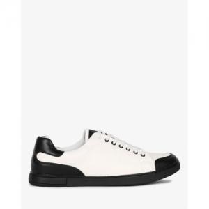 AJIO Colourblock Low-Top Panelled Sneakers
