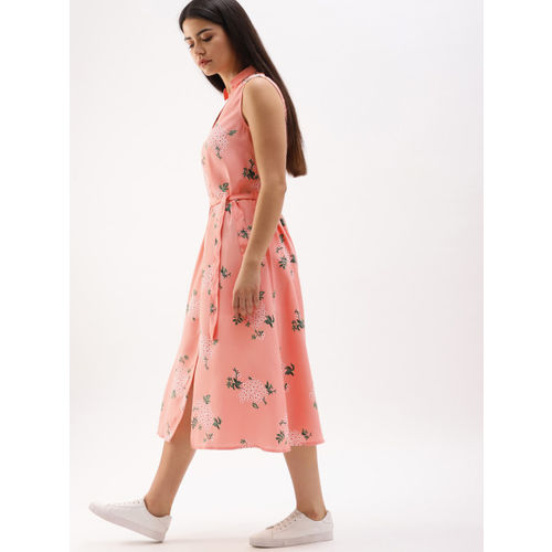 DressBerry Women Pink Printed Shirt Dress