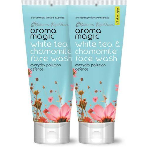 Aroma Magic Pack of 2 White Tea & Chamomile (100 ml) Face Wash(100 ml)