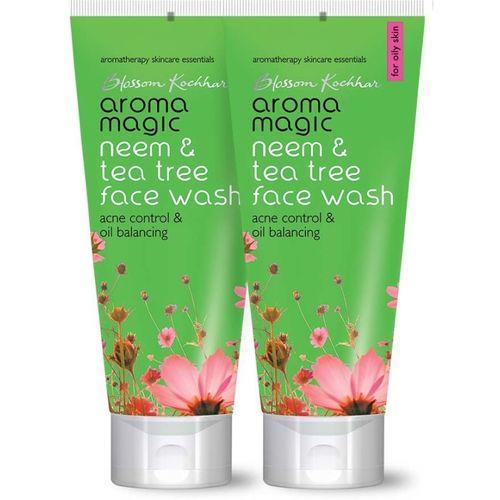Aroma Magic Pack of 2 Neem & Tea Tree (50 ml) Face Wash(50 ml)