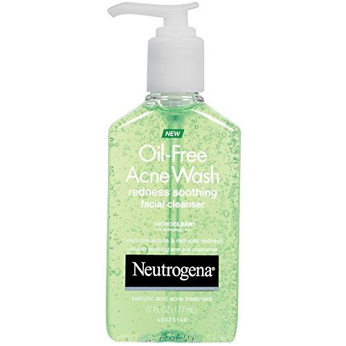 3 Pack Neutrogena Oil-Free Acne Wash Redness Soothing Facial Cleanser 6 oz Each