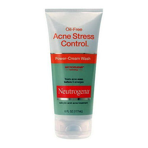 Neutrogena Oil Free Acne Stress Control Power Cream Face Wash - 6 Oz, 3 Pack