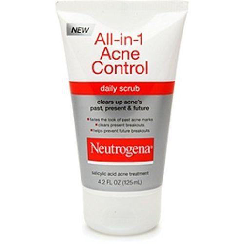 Neutrogena All-in-1 Acne Control Daily Scrub 4.20 oz (Pack of 4)