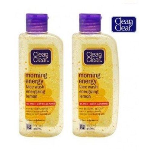 Clean & Clear Morning Energy Facewash Lemon (100ml) (Pack of 2)