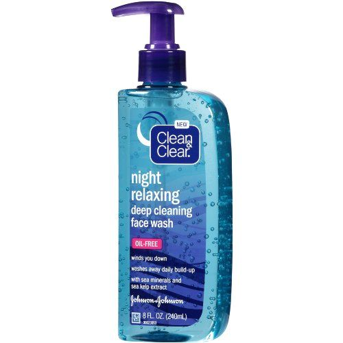 Clean & Clear Night Relaxing Deep Cleaning Face Wash (8fl.oz)