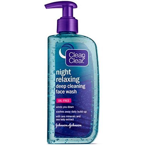 Cln&Clr Night Relxng Face Size 8z Clean & Clear Night Relaxing Face Wash 8z