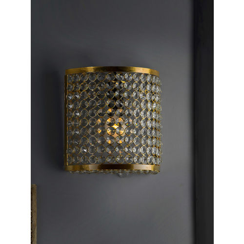 Homesake Gold-Toned Self Design Handcrafted Wall or Ceiling Lamp