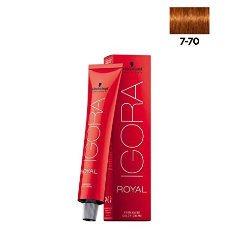 Schwarzkopf Igora Hair Color Tubes-3 Tube No*7-70 (Medium Blonde Copper Natural) + 1 Pc Of Igora Developer 20 Vol (6%) 1000 ml