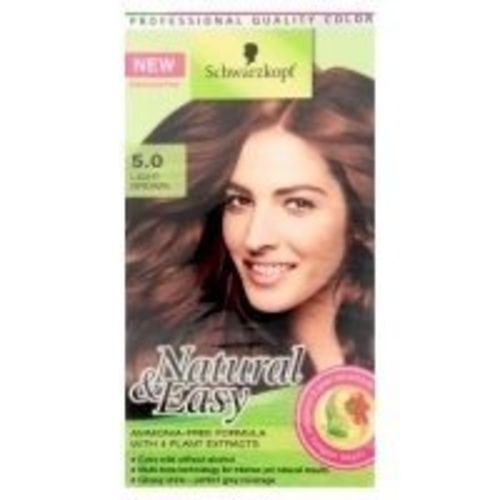 Schwarzkopf Natural and Easy Hair Color 5.0 Light Brown, Ammonia-free