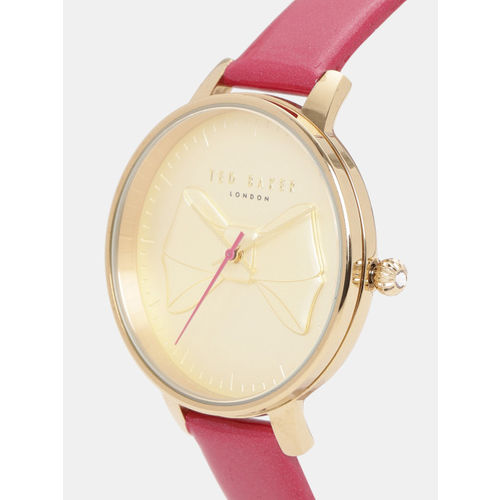 Ted Baker Women Gold-Toned Textured Analogue Watch TE50533004