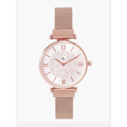 DressBerry Women Silver-Toned Analogue Watch MFB-PN-LB-1236