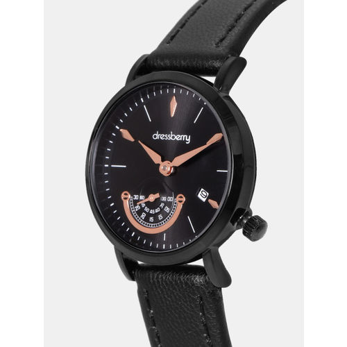 DressBerry Women Black Analogue Watch MFB-PN-LB-80433