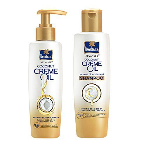 Parachute Advansed Coconut Crme Oil with Intense Nourishment Shampoo Combo Pack - 150 ml Each