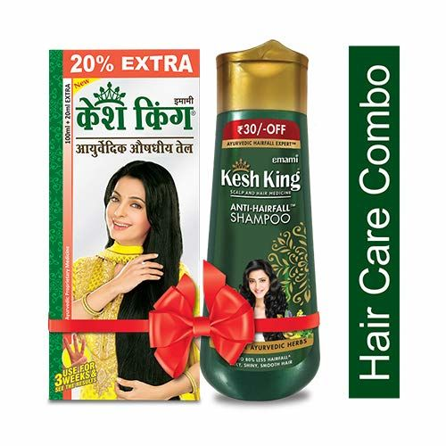 Kesh King Scalp and Hair Medicinal Oil, 100ml with Scalp and Hair Medicine Anti Hairfall Shampoo, 200ml