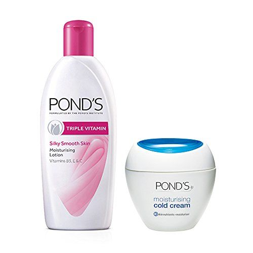POND'S Triple Vitamin Moisturising Body Lotion, 300ml with Free Moisturising Cold Cream, 30ml