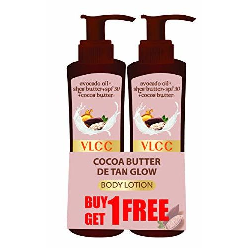 VLCC Cocoa Butter Detan Glow SPF 30 | PA+++, 400 ml (Buy 1 Get 1 Free)