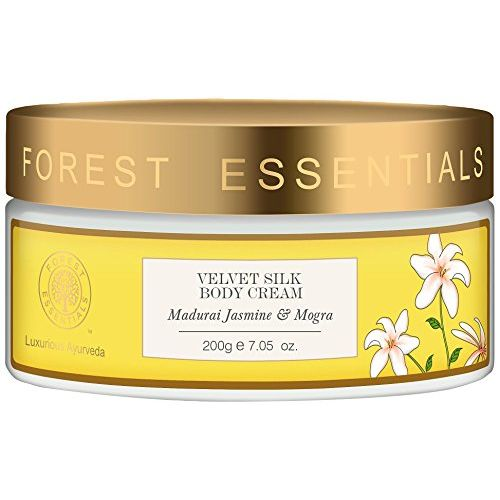 Forest Essentials Madurai Jasmine and Mogra Velvet Silk Body Cream, 200g
