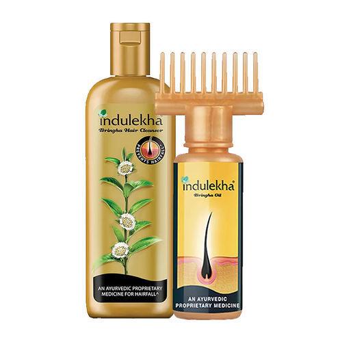 Indulekha Bringha Hair Oil ( 100gm ) + Free Anti Hairfall Hair Cleanser Shampoo ( 340ml )