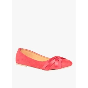 TEN Red Slip-On Belly Shoes