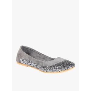 TEN Grey Flat Belly Shoes