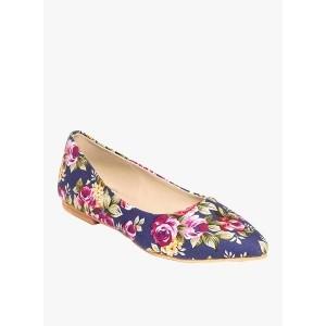 TEN Blue Floral Belly Shoes