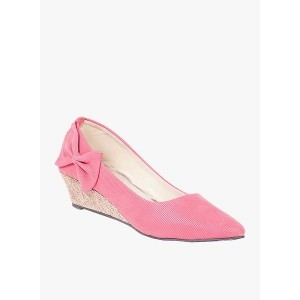 TEN Pink Wedge Belly Shoes
